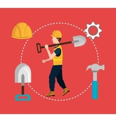 Construction industry and tools vector
