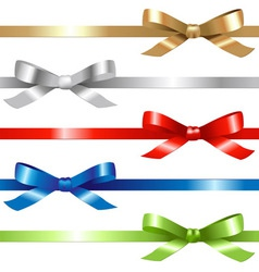 5 ribbons vector