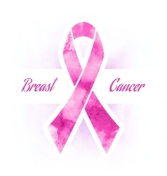 Pink ribbon breast cancer vector