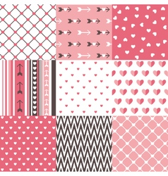 Seamless pattern valentines day vector