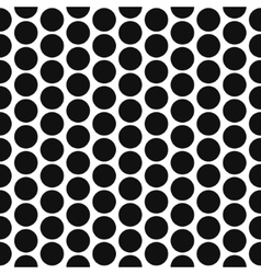 Simple polka dot shape black and white seamless vector