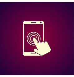 Touch screen smartphone icon vector
