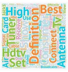 Best hdtv antenna text background wordcloud vector