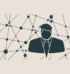 Businessman in suit icon vector