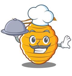 Chef bee hive character cartoon vector