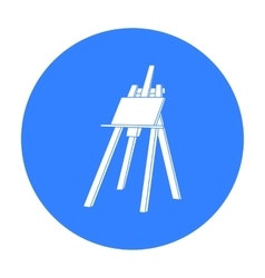Easel with masterpiece icon in black style vector
