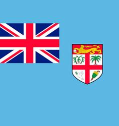 Flag fiji islands flat style vector