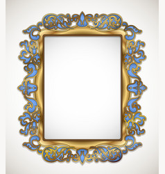floral gold frame vector image vector image