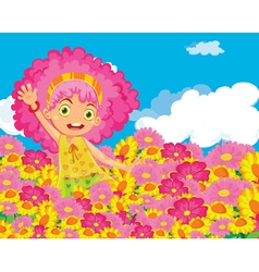 Flower girl vector image vector image
