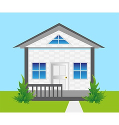 House on land vector