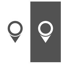 isolated location icon for maps on a black and vector image