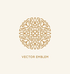 logo design template and monogram concept vector image vector image