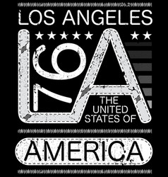 los angeles typography design vector image