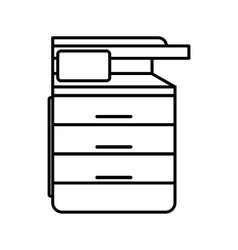 Multipurpose device fax copier and scanner icon vector image vector image