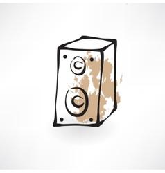 music column grunge icon vector image vector image