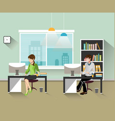 People work in the office vector