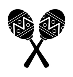Pictogram maracas music instrument brasilian vector