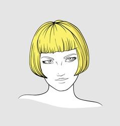 Portrait of blonde girl vector image vector image