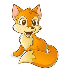 red young fox vector image vector image