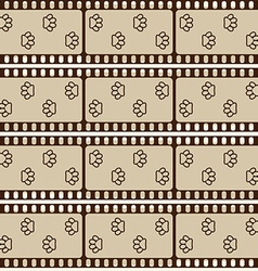 Seamless pattern with film strips and pet paws vector image vector image