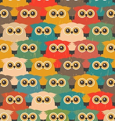 Seamless Vintage Pattern with Cute Owls vector image vector image