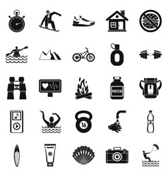 Therapeutic therapy icons set simple style vector