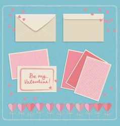 valentines day envelopes set vector image