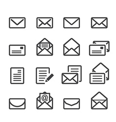 Mail line icon vector