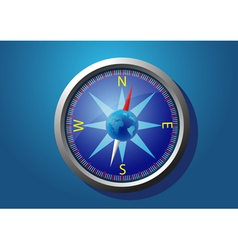 Compass on a blue background vector