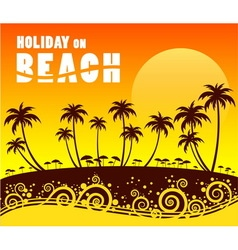 Holiday on beach vector