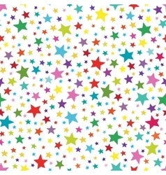 Seamless simple pattern with colorful stars vector