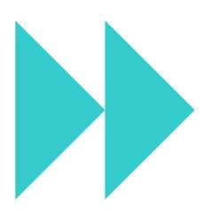 Flat forward or backward icon audio sign vector