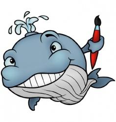 whale painter vector image