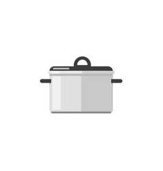 Kitchen pan icon isolated on white flat vector