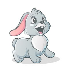 little bunny vector image