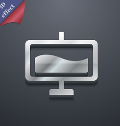 Presentation billboard icon symbol 3d style trendy vector