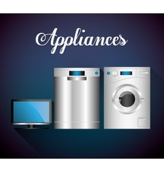 Technology home appliances vector