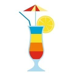 Cocktail drink fruit juice vector