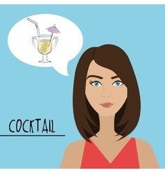 Cokctail night life vector