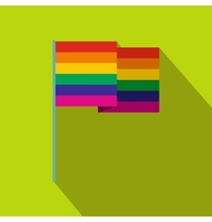 Rainbow flag flat icon vector