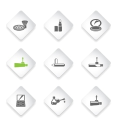 make-up products icons vector image