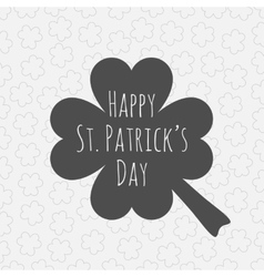 Happy st patricks day clover background vector