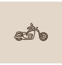 Motorcycle sketch icon vector