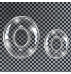 Bubbles letters o vector