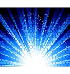 abstract ray background with stars vector image vector image