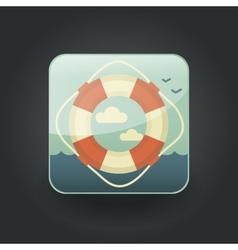 App icons lifebuoy vector