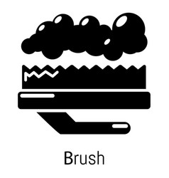 Carpet brush icon simple black style vector