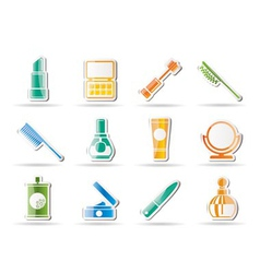 cosmetic and make-up icons vector image