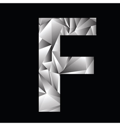 Crystal letter f vector