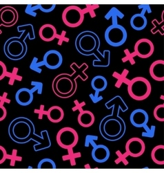 Gender signs seamless pattern vector image vector image